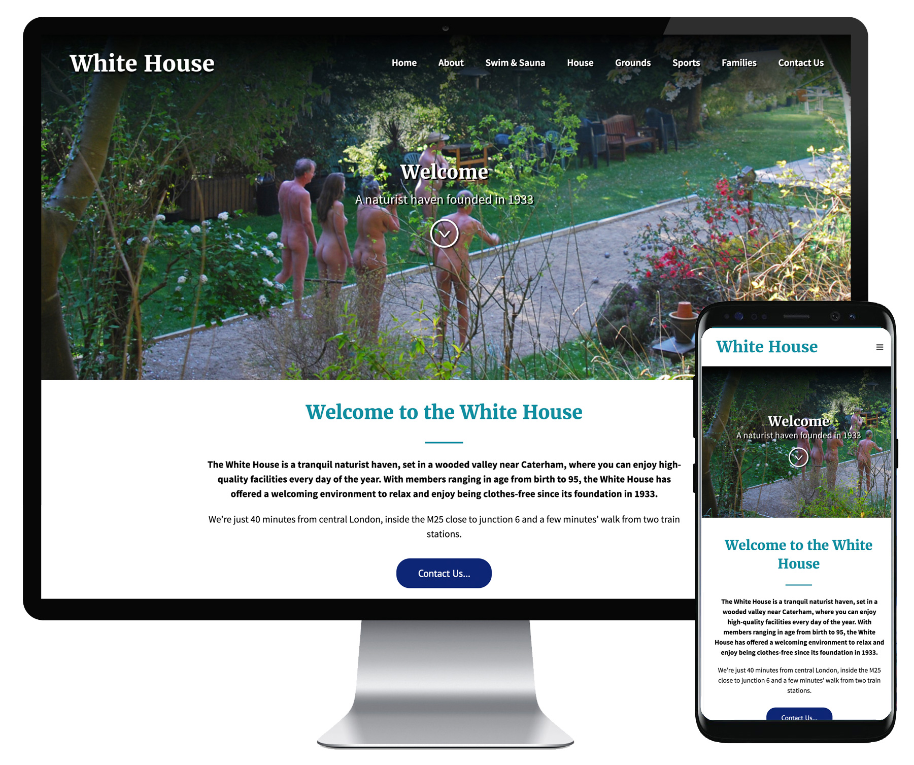 White House Club website