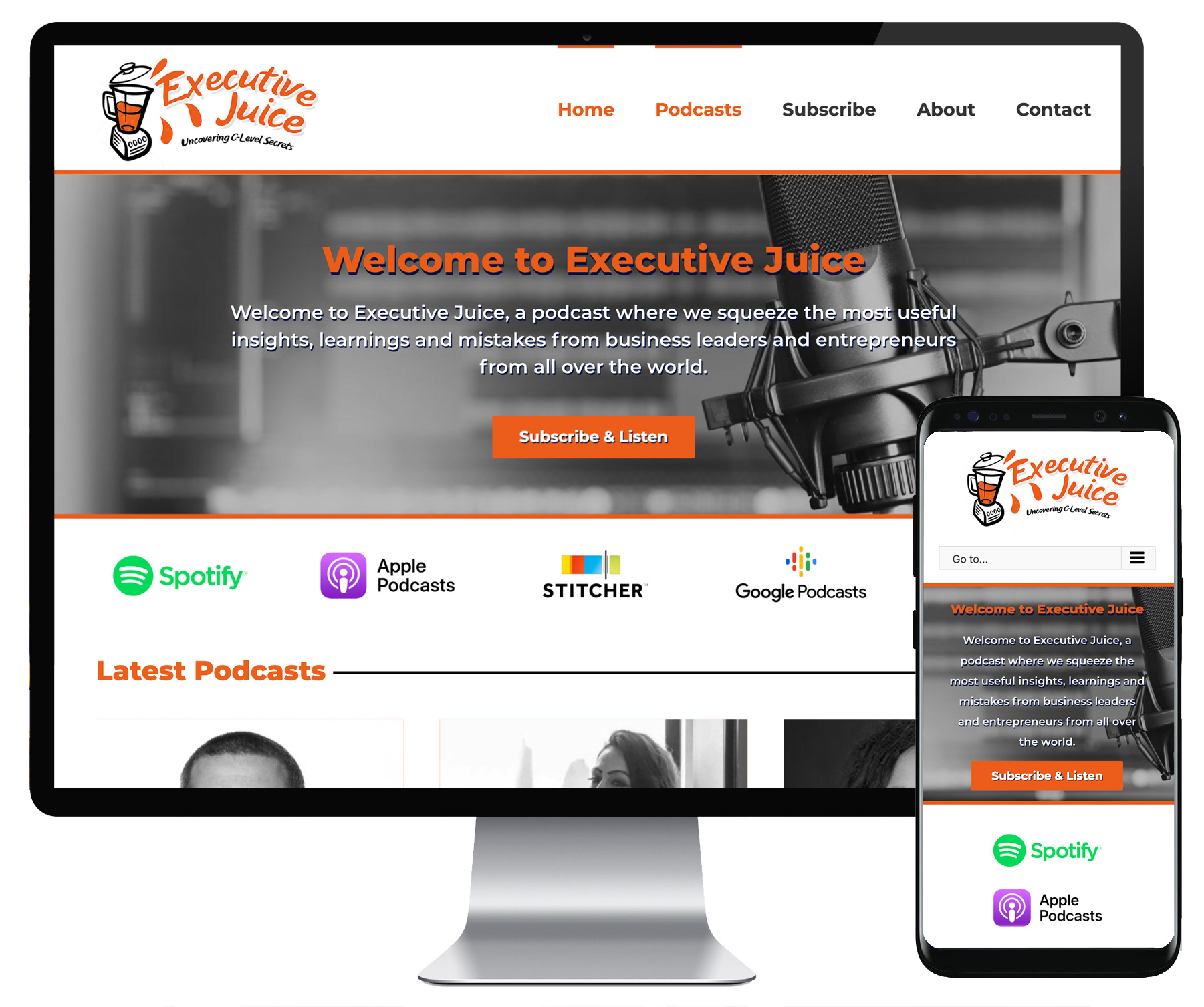 Executive Juice website
