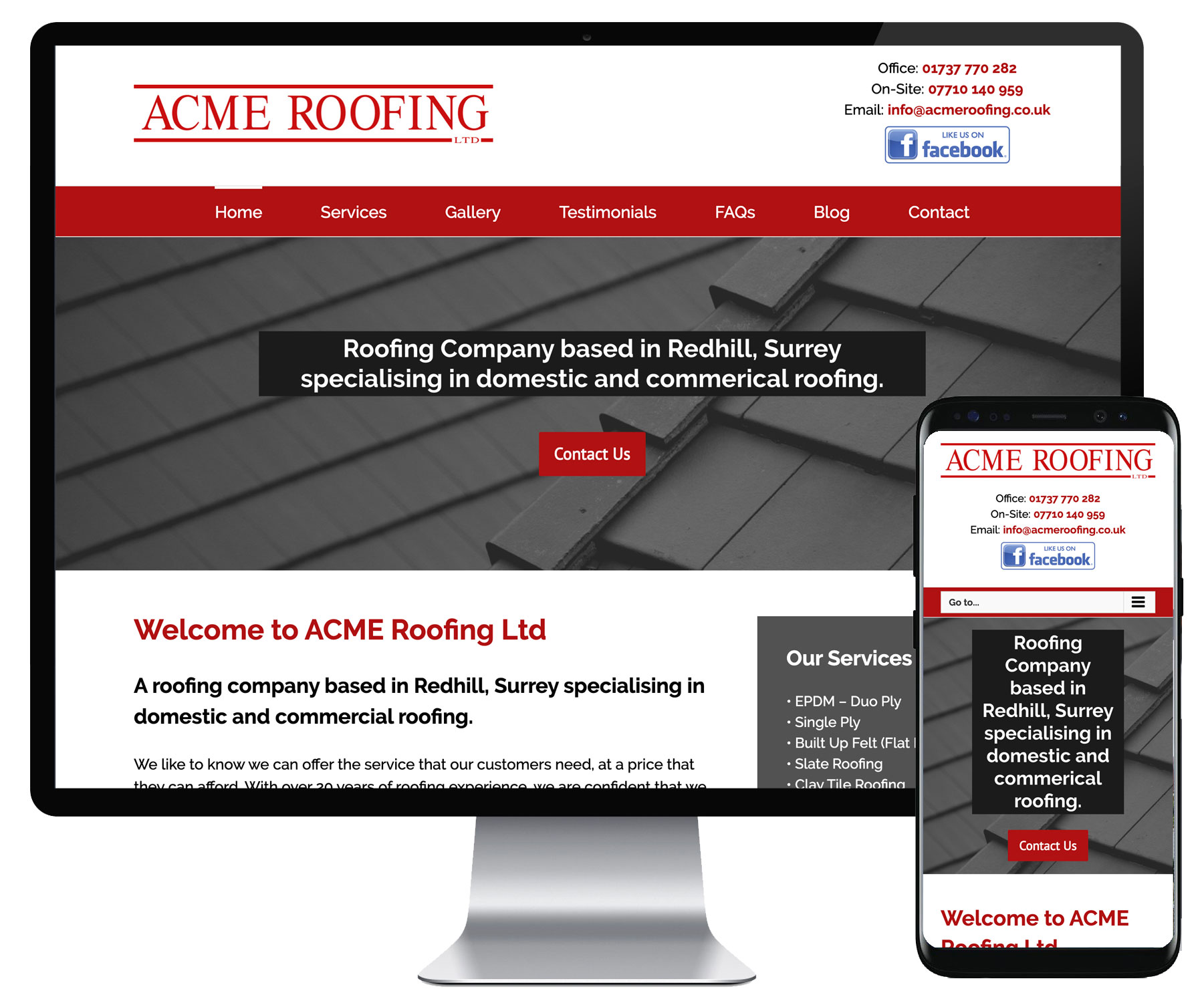 ACME Roofing website