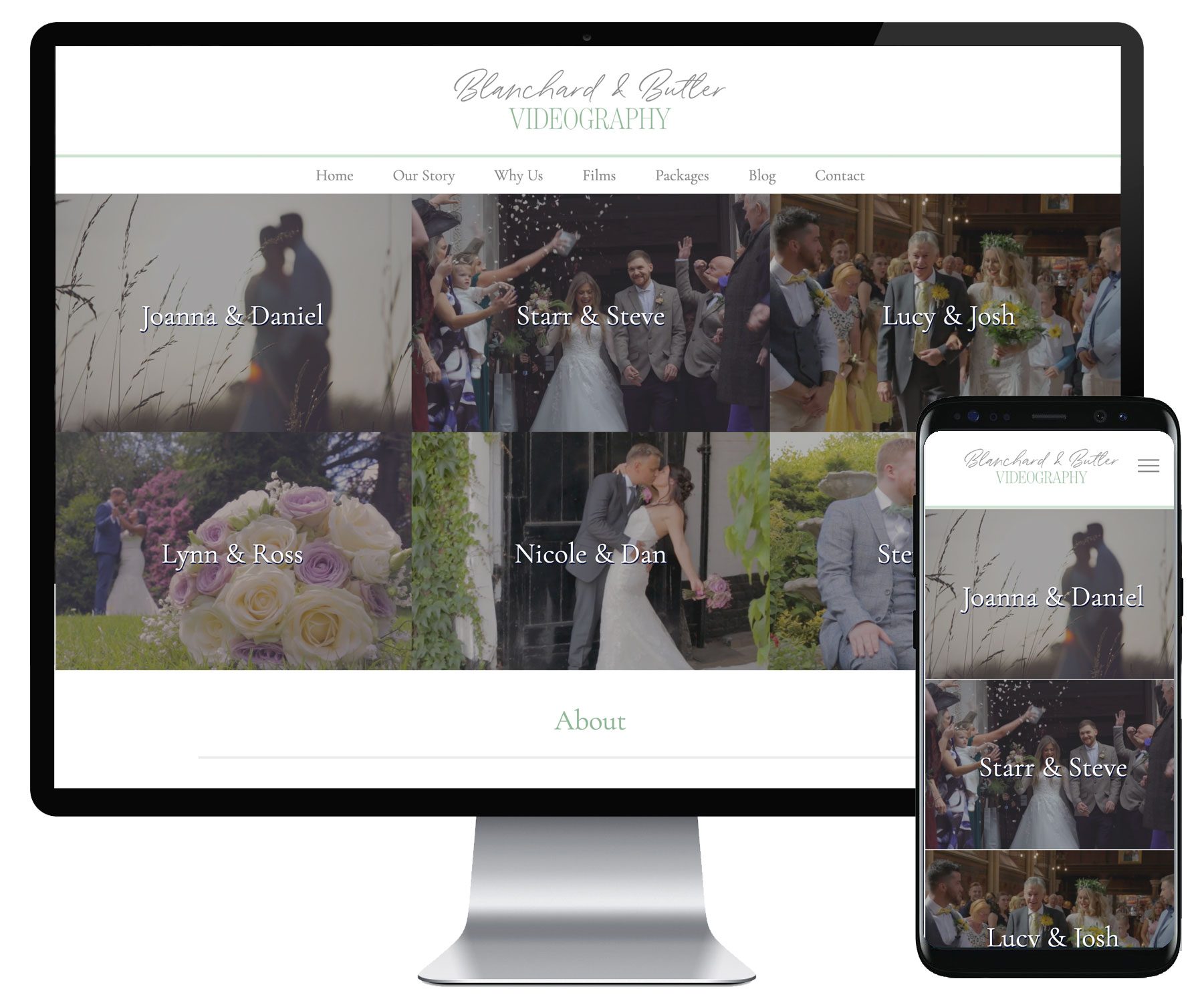 Blanchard and Butler Videography website