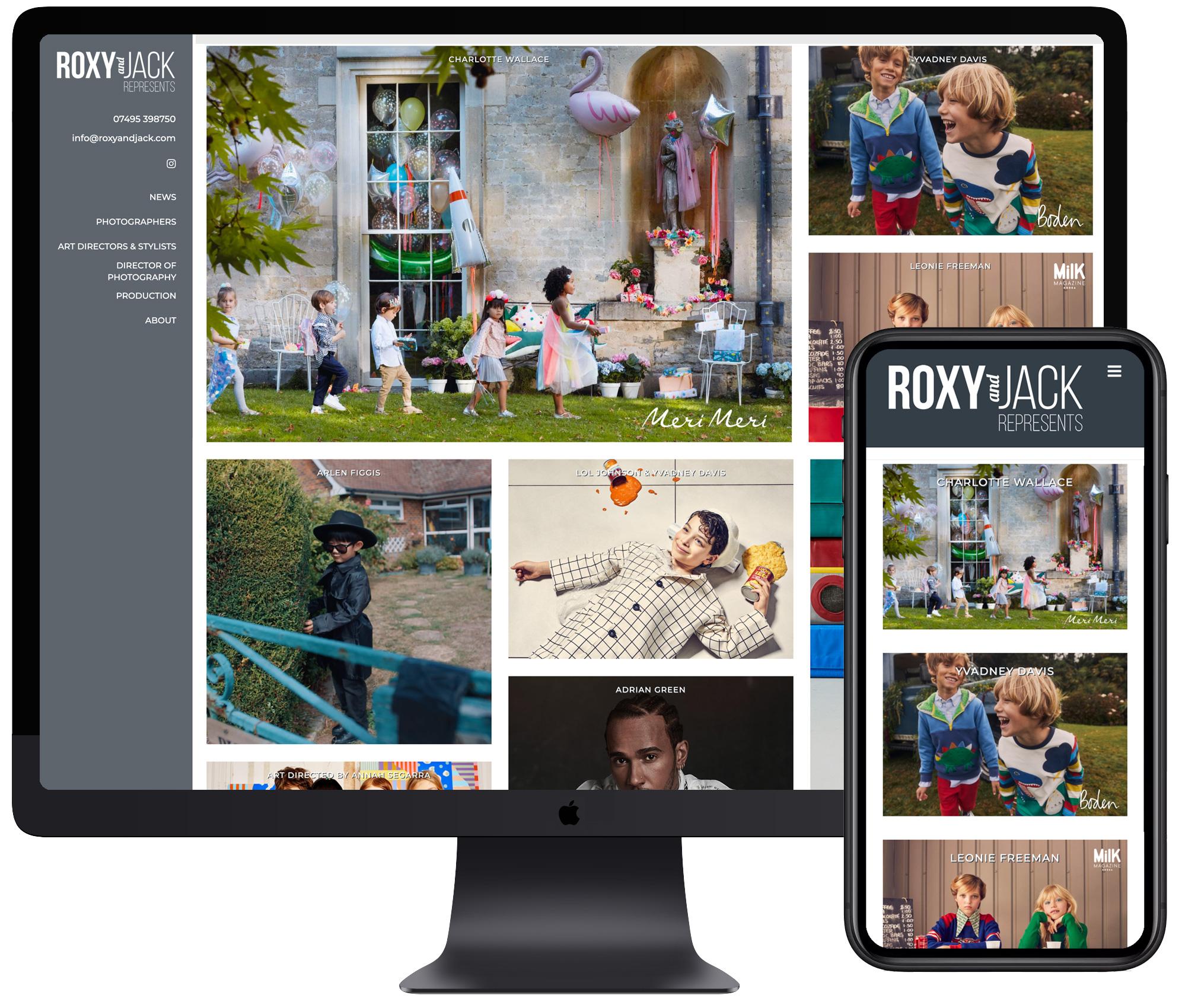 Roxy & Jack website
